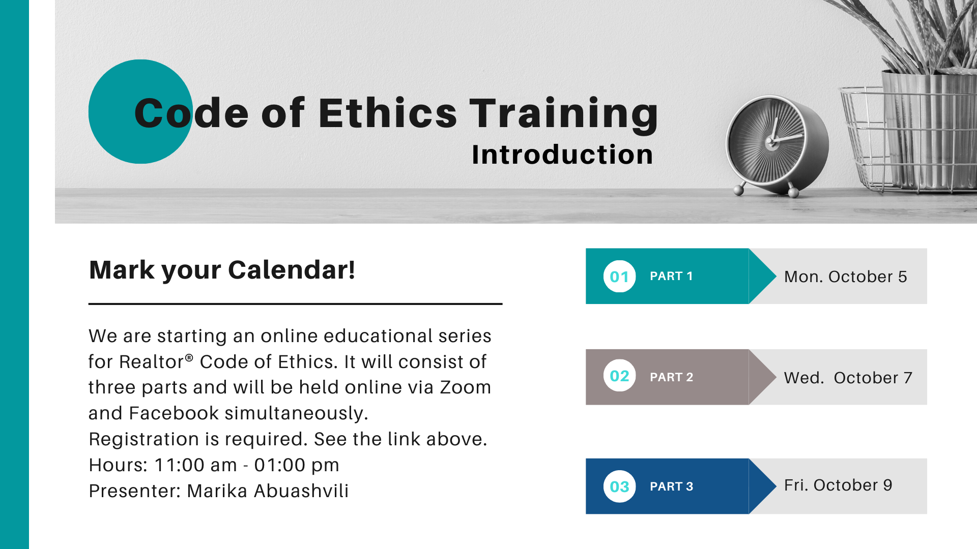 For the first time in Georgia! REALTOR® Code of Ethics Course